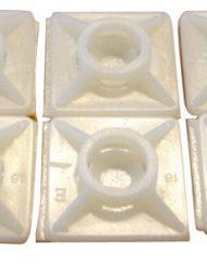 Plakzadels 19 x 19 mm t.b.v kabelmontage